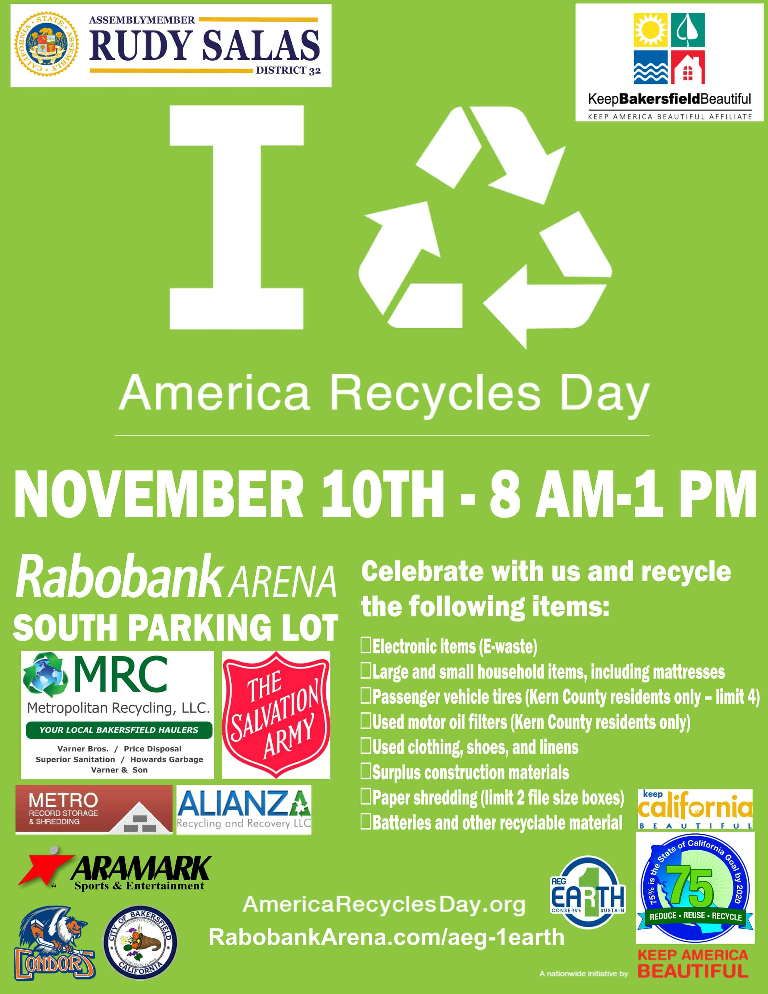 America Recycles Day Bakersfield 2018